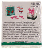 Lot of 2 Pink Flamingos Desktop Set Lawn Mini Kit Book Gag Gift - FUNsational Finds - 2