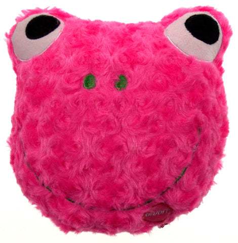 "Pink Frog Pillow Multi Color LED Light Up Flash Plush 9"" Microbeads Home Decor - FUNsational Finds - 1"