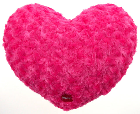 "Pink Heart Plush Throw Pillow Multi Color LED Light Up Flash 13"" Microbeads - FUNsational Finds - 1"