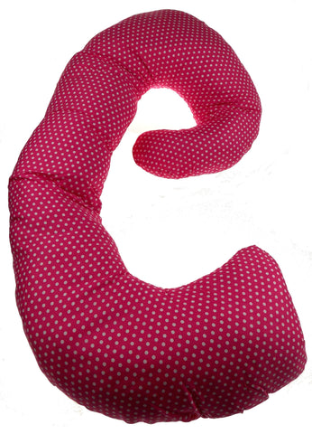 Complete Whole Body Pregnancy Pillow EZ Dreams Prenatal Solutions Pink Polka Dot - FUNsational Finds - 1