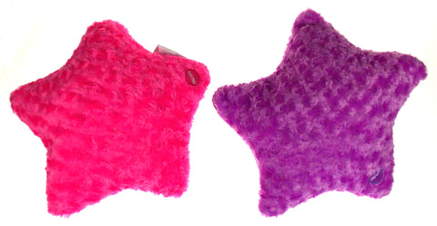 "Pink Purple Star Pillow Multi Color LED Light Up Flash Plush Throw Couch 13"" Lot"