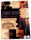 Pinot Noir Chateau Wine Sign Light Up Grapes Bottles Glass 16x12 Large Plaque - FUNsational Finds - 3