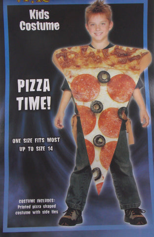Kids Pizza Time Halloween Costume Child Youth One Size Pepperoni Olives Spirit