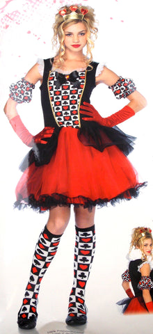 Leg Avenue Playing Card Queen Jr Girl S/M Halloween Costume Cosplay Dress Purim - FUNsational Finds - 1