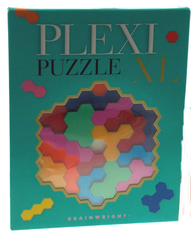 Brainwright Plexi XL Puzzle Hexagon Shaped Pieces 3D Family Game Educational Toy