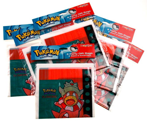 Pokemon Party Gift Bags Lot Of 8 Pkgs 64 65x9 Birthday Loot Favor Slowking