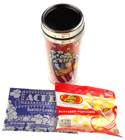 Burton Morris Popcorn Addict Pop Travel Mug Microwave Jelly Belly Buttered Gift - FUNsational Finds - 1