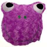 "Purple Frog Pillow Color LED Light Up Flash Plush 9"" Microbeads Home Bed Decor - FUNsational Finds - 1"