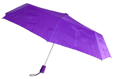 "Totes Automatic Purple Umbrella 42"" Large Auto Open Travel Compact Mini Folds - FUNsational Finds - 1"