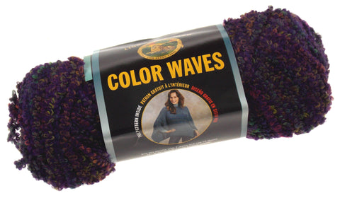 Lion Brand Yarn Color Waves Purple Vista 347 Lot 3 Skeins 125yds 3oz Made in USA