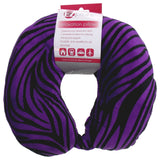 Neck Support Air Travel Pillow Soft Plush Purple Zebra Print U Shaped EZ Dreams - FUNsational Finds - 2
