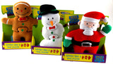 Gingerbread Man Snowman Santa Puzz Pals 3 Pc Soft Puzzle Activity Toy Mary Meyer - FUNsational Finds - 1
