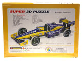 "Super 3D Colored Puzzle Renault R23 Formula 1 Race Car 15.35"" Long Foam"