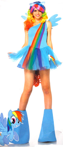 Leg Avenue My Little Pony Rainbow Dash Large Sexy Halloween Costume Dress Wig - FUNsational Finds - 1