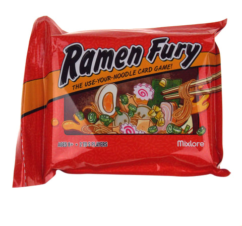 Ramen Fury Card Game 2-5 Players Ages 8+ Family Gift Stocking Stuffer Fun