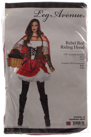 ... Leg Avenue Rebel Red Riding Hood Large Sexy Halloween Costume Dress Cape 85445 - FUNsational Finds  sc 1 st  FUNsational Finds & Leg Avenue Rebel Red Riding Hood Large Sexy Halloween Costume Dress ...