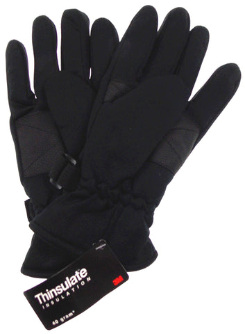 Route 66 Black Gloves 3M Thinsulate Winter Sport Mens One Size NWT - FUNsational Finds - 1