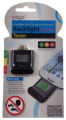 Alcohol Tester Samsung Galaxy S4 S3 Note Alarm Micro USB iPega Color Backlight - FUNsational Finds - 1