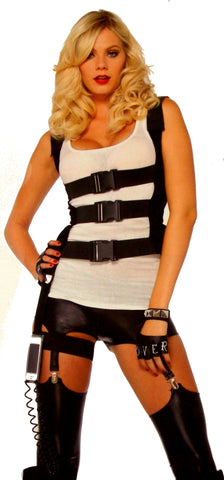 Leg Avenue SWAT Body Harness Sexy Halloween Costume Cosplay Garter iPhone Cord - FUNsational Finds - 1