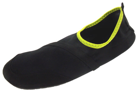 FitKicks Black Neon Green Mens Small Active Lifestyle Footwear Shoes 7-8 Slip On - FUNsational Finds - 1