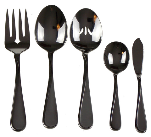 Oneida Satin Flight 5 Pc Hostess Set Flatware 18/10 SS Serving Fork Spoon Sugar - FUNsational Finds - 1