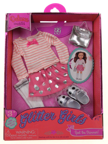 "Glitter Girls Deluxe Outfit Fits Most 14"" Dolls Dazzling Spot The Shimmer"