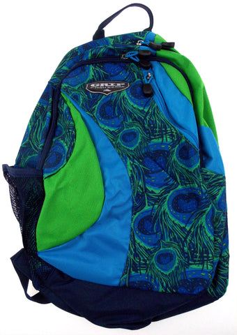 High Sierra Grip Dazzler Backpack Blue Green Padded Strap Travel Camping Hiking - FUNsational Finds - 1