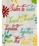 Kitchen Towels Sister Gift 15x25 Spread The Frosting Snowman Spatula Chevron Set - FUNsational Finds - 2
