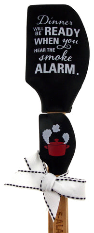 Dinner Ready Smoke Alarm Kitchen Buddies Black Spatula Set Gift Brownlow 5 Alarm - FUNsational Finds - 1