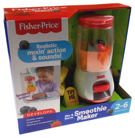 Fisher Price Smoothie Maker Mix & Serve Realistic Sounds Develops Imagination