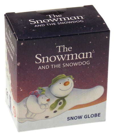 Snowman And Snowdog Snow Globe Magnet Running Press Mini Kit Gift Waterglobe Dog - FUNsational Finds - 1