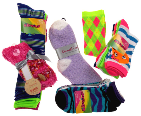 Women's Socks of the Month - (4 Pair) - FUNsational Finds