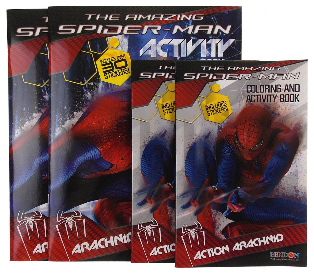 the amazing spiderman activity coloring book lot 4 marvel action