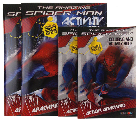 The Amazing SpiderMan Activity Coloring Book Lot 4 Marvel Action Arachnid Attack - FUNsational Finds - 1