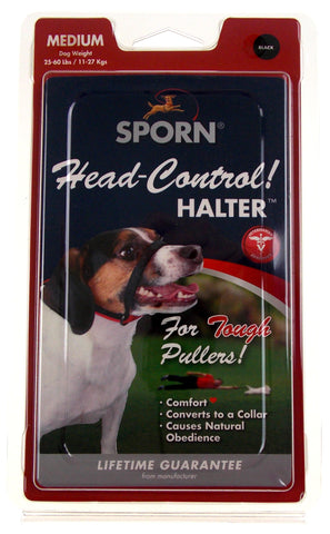 Sporn Head Control Halter Medium Size Dog Collar Obedience Training Stop Pulling - FUNsational Finds - 1