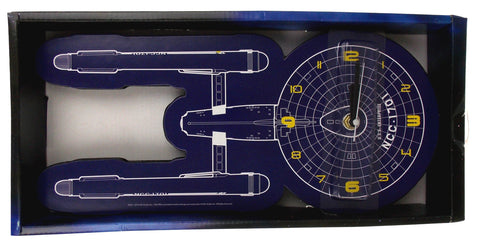 "Star Trek The Original Series TOS USS Enterprise NCC-1701 Wall Clock 14"" Large"
