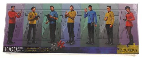 Star Trek Original Series TV Cast Crew Jigsaw Puzzle 1000 Piece Slim 12x36