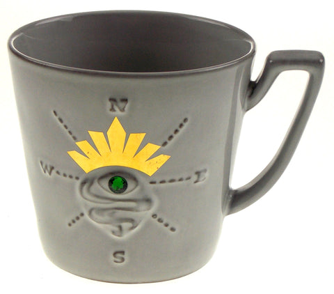 Starbucks Coffee Mug Sirens Eye Compass Collection 2014 Gray Green Gem Crown - FUNsational Finds - 1