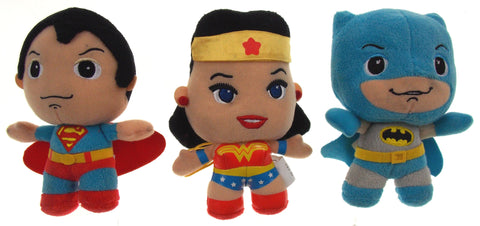 Lot 3 Batman v Superman Wonder Woman DC Comics Originals Little Mates Plush Set - FUNsational Finds - 1