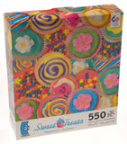 Ceaco Sweet Treats Jigsaw Puzzles 550 Piece Set 3 Made US 18x24 Cupcakes Cookies