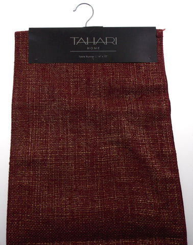 "Kitchen Table Runner Tahari Home Red & Gold 14""x72"" Party Wedding Banquet Decor - FUNsational Finds - 1"