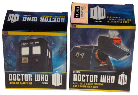 Set of 2 Doctor Who BBC Tardis K-9 Robotic Canine Dog Light Up Figure Sound Book - FUNsational Finds - 1