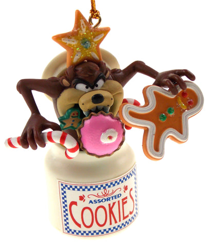 Tasmanian Devil Cookie Jar Christmas Tree Ornament Looney Tunes in Box - FUNsational Finds - 1