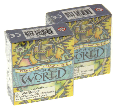 Teeny Tiny Jigsaw Puzzle The World Lot 2 Running Press Mini Kit 300 Pc Tweezers