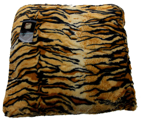 Tiger Plush Throw Pillow Animal Collection 20x20 Polyester Living Room Sofa Bed - FUNsational Finds - 1