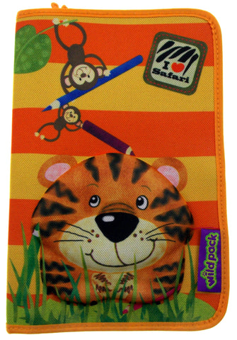 Okiedog Wildpack 3D Pencil Case Pippa Tiger Orange Zippered Pouch School Supply - FUNsational Finds - 1