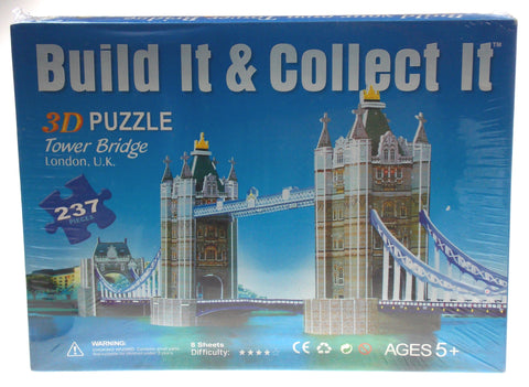 "Super 3D Colored Puzzle Tower Bridge London UK 29.1"" Long Foam"
