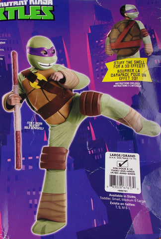 Nickelodeon Teenage Mutant Ninja Turtles Halloween Costume Kids Large Mask Purim - FUNsational Finds - 1