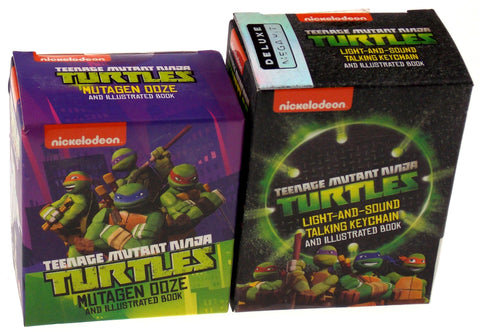 Teenage Mutant Ninja Turtles Mutagen Ooze Talking Keychain Mega Mini Kit Book - FUNsational Finds