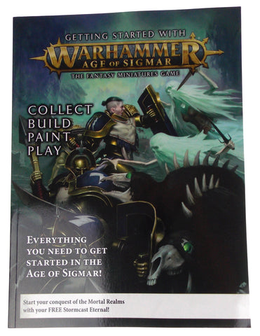 Warhammer Age of Sigmar Miniatures Game Getting Started Book Stormcast Eternal